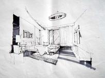 卧室设计手绘透视图