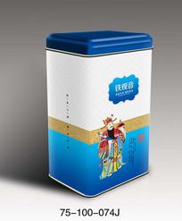 传统文化简洁茶叶罐包装设计