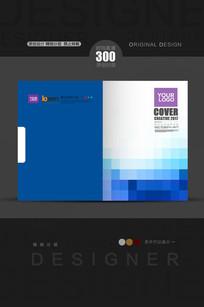 蓝色马赛克科技封面