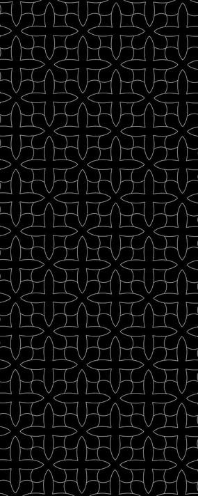 簡單花紋雕刻圖案