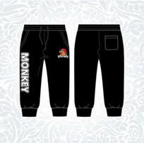 黑色潮牌七分裤设计