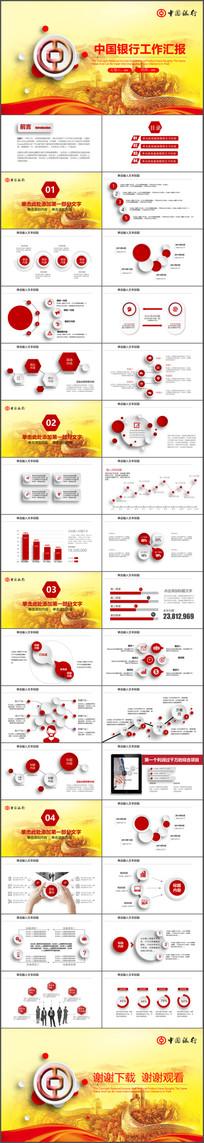 中国银行工作总结汇报PPT
