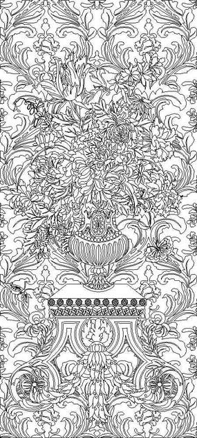 菊花矢量圖