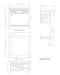 拐子纹方凳CAD图