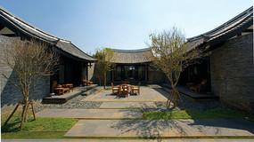 江南古镇庭院