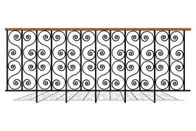 铁艺对称栏杆
