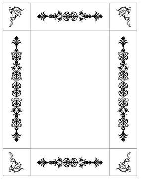 邊框花紋雕刻圖案