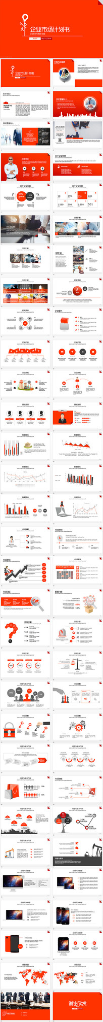 红色经典市场商业计划书ppt