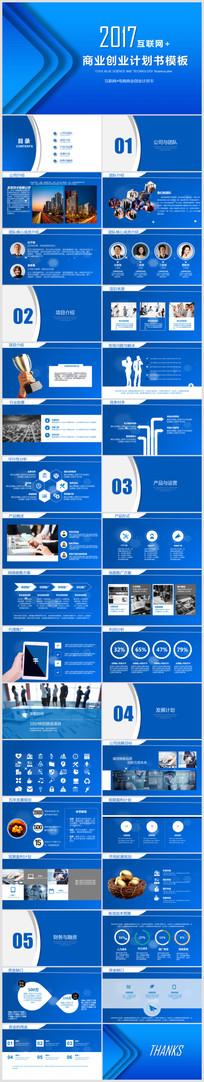 互联网科技行业融资PPT模板