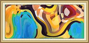 几何抽象油画抽象画