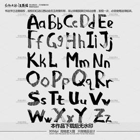 26个英文字母艺术字