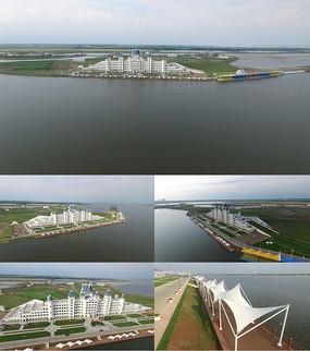 哈尔滨航拍湿地城堡酒店视频