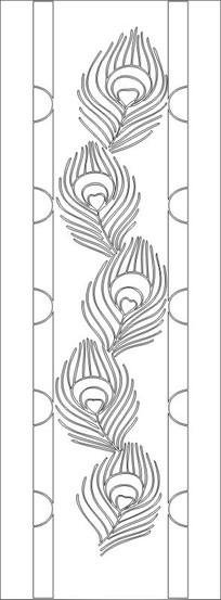 孔雀花雕刻图案