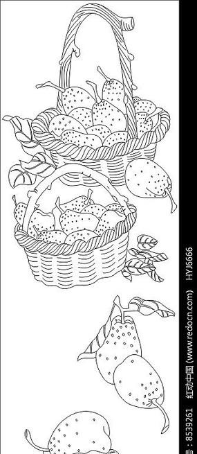 草莓雕刻图案