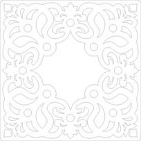 方形花纹雕刻图案