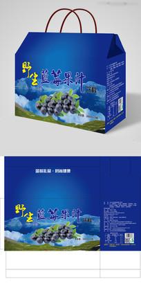 经典蓝莓果汁饮料包装设计