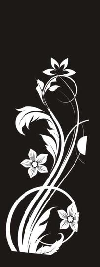 矢量花紋雕刻圖案