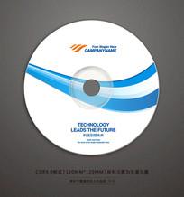 蓝色条产品宣传光盘贴设计