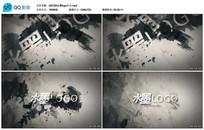 AECS6水墨logo片头视频