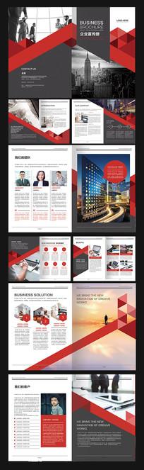 高端几何红色企业画册