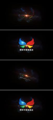 光线logo标志展示ae模板
