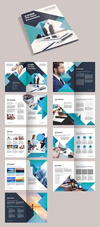 蓝色企业文化画册宣传册AI