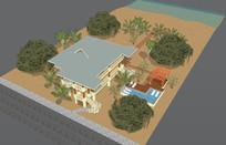 欧式别墅含室内SU模型