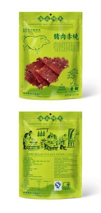猪肉干猪肉赤烧包装袋设计