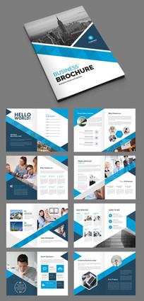 蓝色企业画册公司宣传册