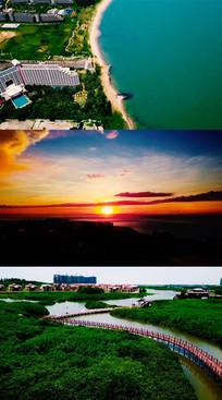海南海口航拍风景视频