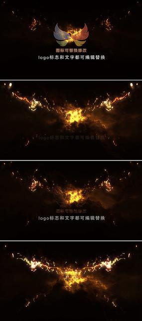 震撼火焰燃烧logo片头模板