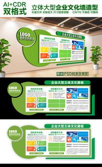 绿色大气企业公司文化墙