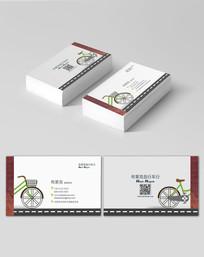自行车创意名片