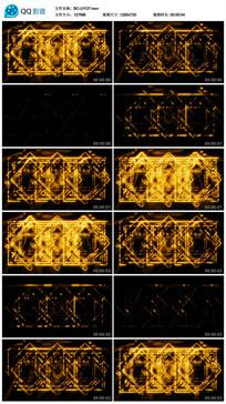 方块正方形动感黄色演艺视频