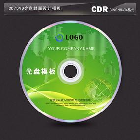 绿色地球背景光盘封面设计