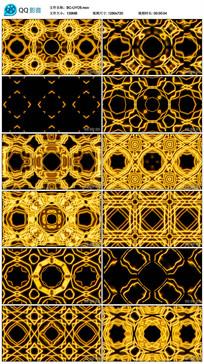 旋转正方形动感黄色演艺视频