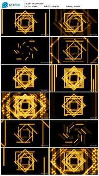 正方形led黄色万花筒视频