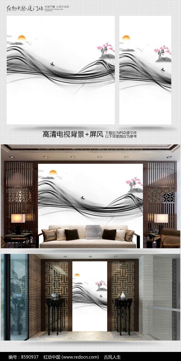 电视背景墙室内装饰画图片