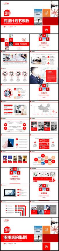 简约商业计划书PPT创业计划