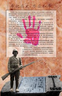 纪念抗战胜利日喷绘展板