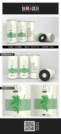 简约素雅花茶罐子包装设计