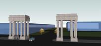 羅馬柱大門模型