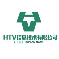 字母HTV组合商标LOGO