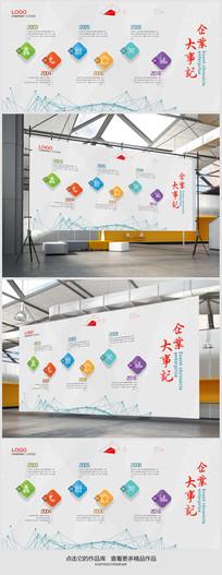 简约户外文化墙背景设计