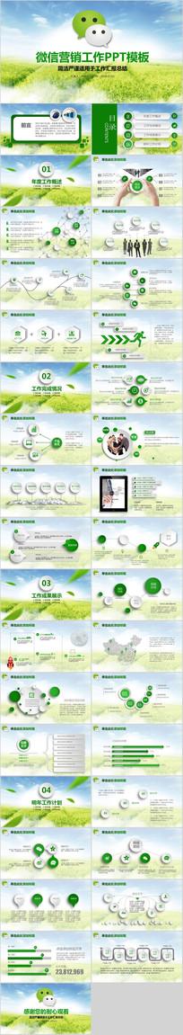 微信营销工作总结推广PPT