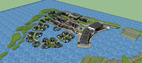 别墅商务办公园区模型