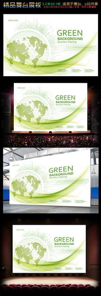 线性地球青绿色展板