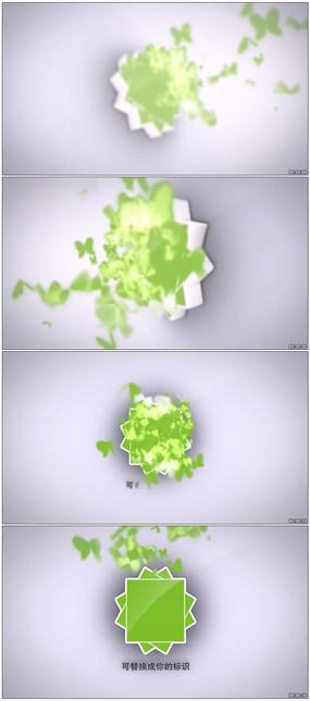 梦幻蝴蝶标志揭示动画AE工程