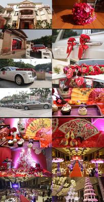 奢华高贵婚礼婚礼布置视频素材