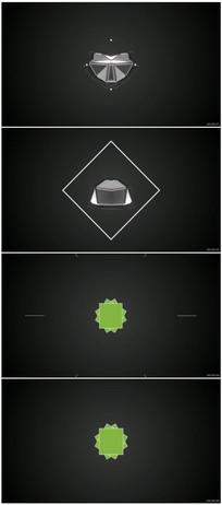 点线MG风格logo展示模板